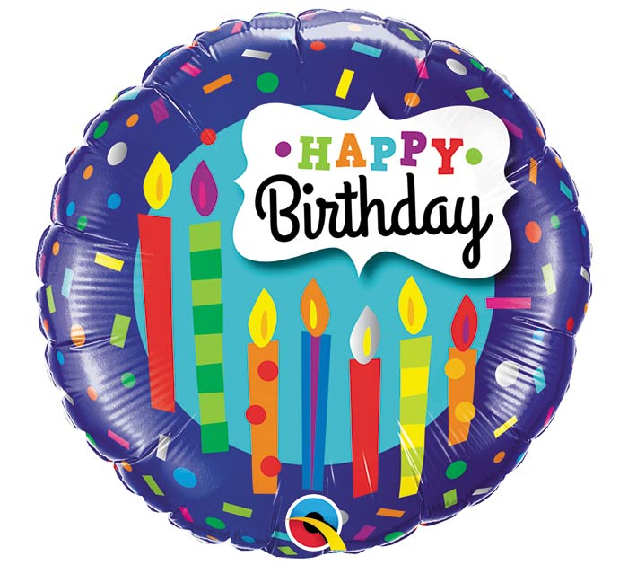 "18""PKG HBD CANDLES  CONFETTI"