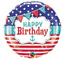"18""PKG HBD NAUTICAL  PENNANTS"