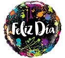 "18""PKG SPA FELIZ DIA COLOR SPLASHES"