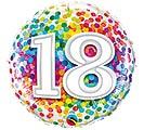 "18""PKG HBD 18 RAINBOW CONFETTI"