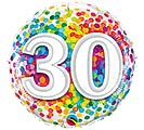 "18""PKG HBD 30 RAINBOW CONFETTI"