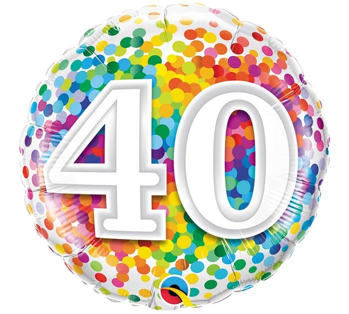 "18""PKG HBD 40 RAINBOW CONFETTI"