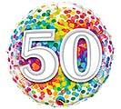 "18""PKG HBD 50 RAINBOW CONFETTI"