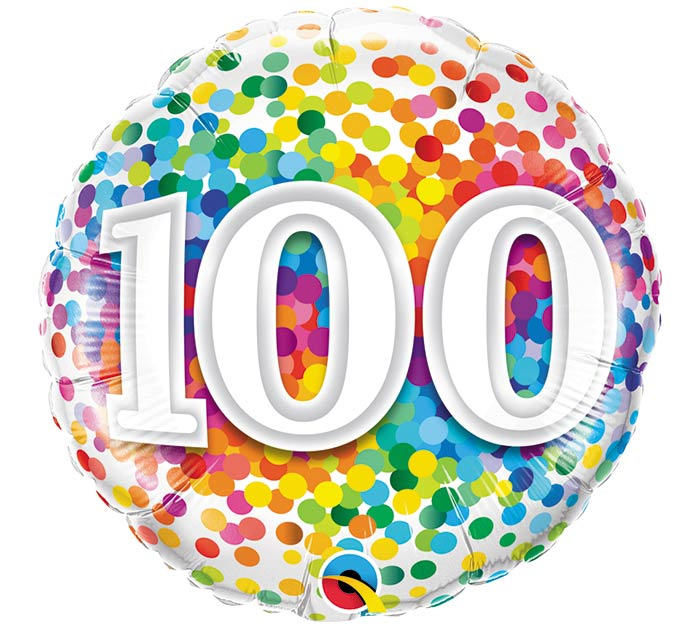 "18""PKG HBD 100 RAINBOW CONFETTI"