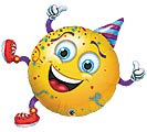 "38""PKG PTY SMILEY PARTY GUY"
