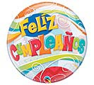 "22"" PKG FELIZ CUMPLEANOS BUBBLE BALLOON"