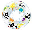 "22"" PKG GET WELL SOON BUBBLE BALLOON 1st Alternate Image"