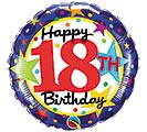 "18""PKG HBD 18TH BIRTHDAY STARS"