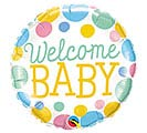 "18""PKG WELCOME BABY DOTS"