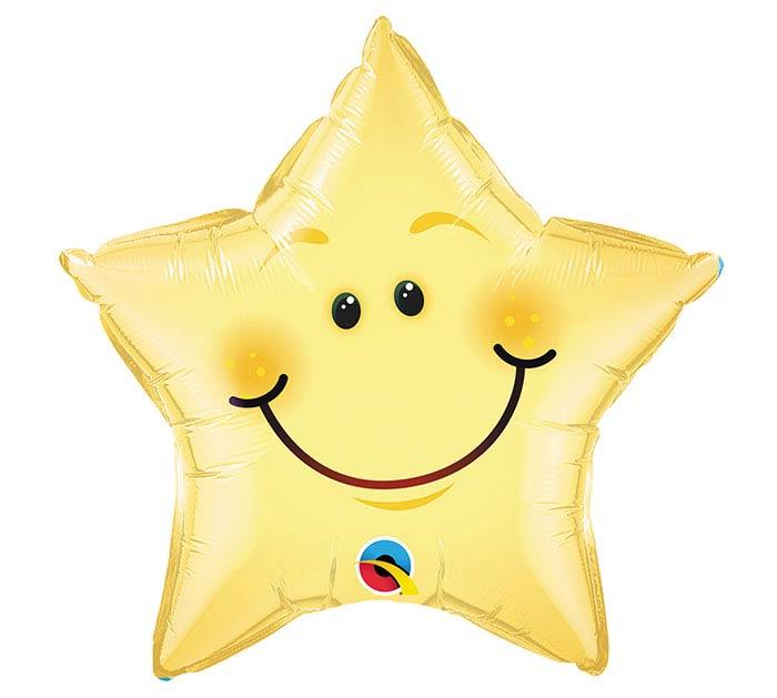 """20""""PKG SMILEY FACE STAR"""