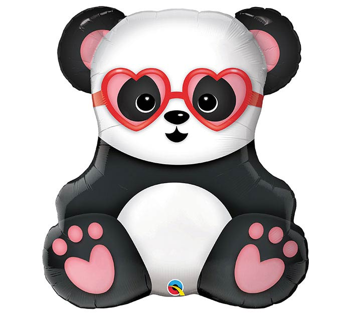 "32""PKG LUV LOVESTRUCK PANDA BEAR"