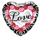 "18""PKG LOVE YOU RED ROSE FRAME"