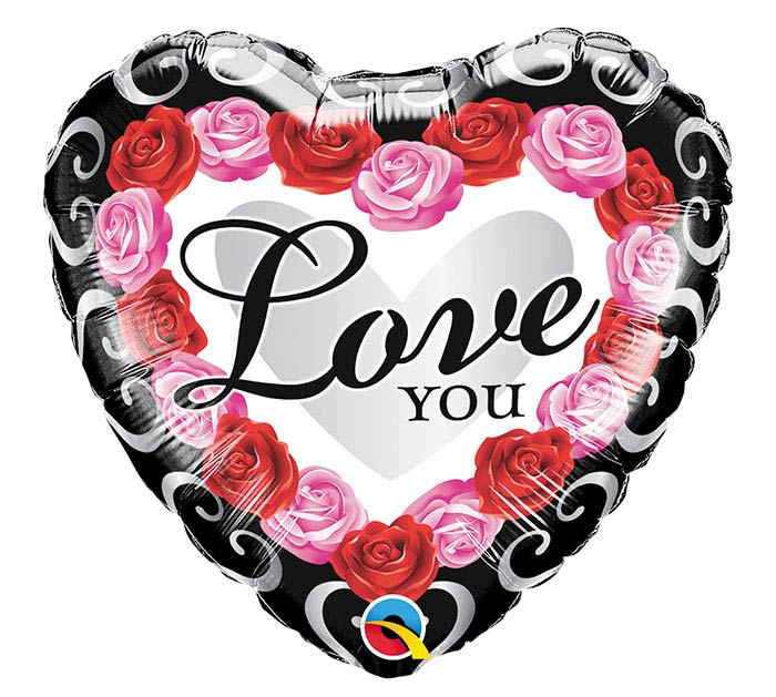 "18""PKG LOVE YOU RED ROSE FRAME"