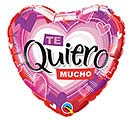 """18"""" SPA TE QUIERO RADIANT HEARTS"""