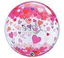 "22""PKG LOVE YOU CONFETTI HEARTS BUBBLE 1st Alternate Image"