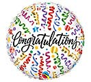 "18""PKG CONGRATULATIONS STREAMERS"