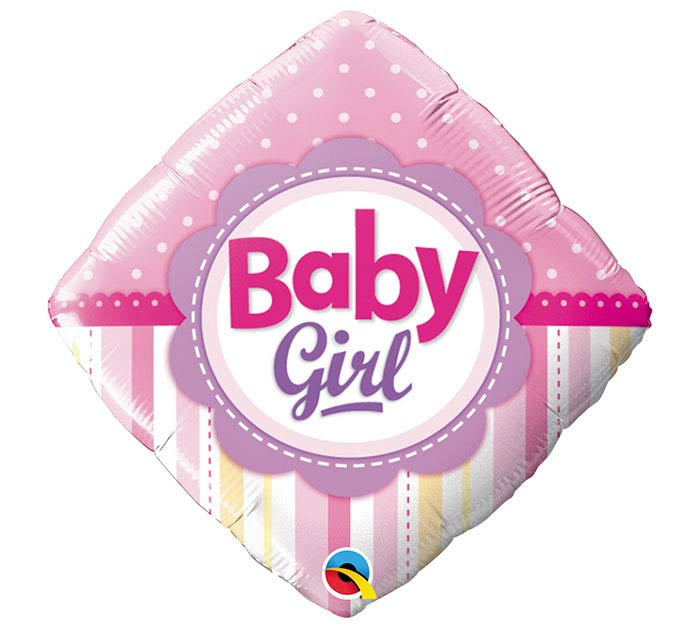 "18""PKG BBY GIRL DOTS  STRIPES"