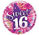 "18""PKG HBD SWEET 16 SHINING STAR"
