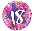 "18""PKG HBD 18 SHINING STAR HOT PINK"