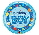 "18""PKG HBD BIRTHDAY BOY BLUE"