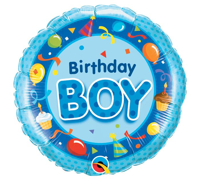 "18""PKG HBD BIRTHDAY BOY BLUE"