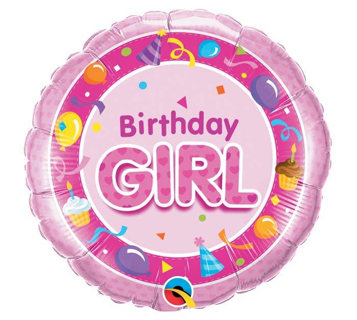 """18""""PKG HBD BIRTHDAY GIRL PINK"""