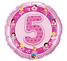 "18""PKG HBD AGE 5 PINK BALLERINA"