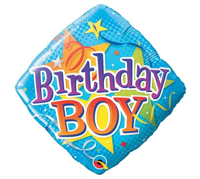 """18""""PKG HBD BIRTHDAY BOY STARS"""