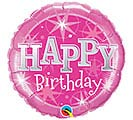 "18""PKG HBD BIRTHDAY PINK SPARKLE"