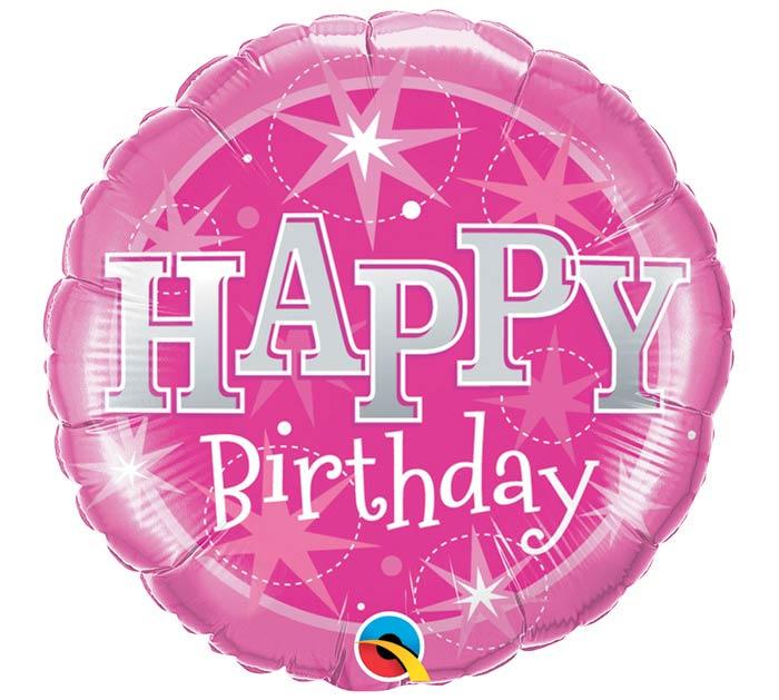 """18""""PKG HBD BIRTHDAY PINK SPARKLE"""