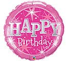 "36""PKG HBD BIRTHDAY PINK SPARKLE"