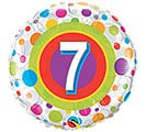 "18""PKG HBD AGE 7 COLORFUL DOTS"