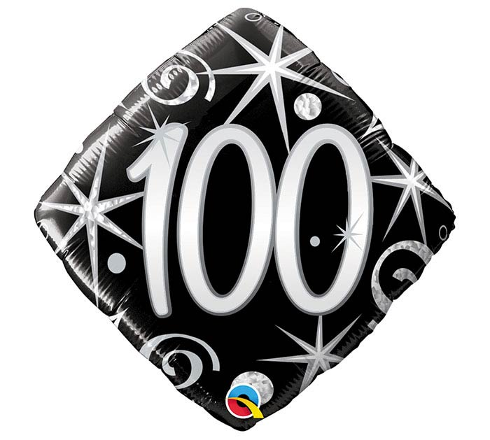 "18""PKG HBD 100 ELEGANT SPARKLES"