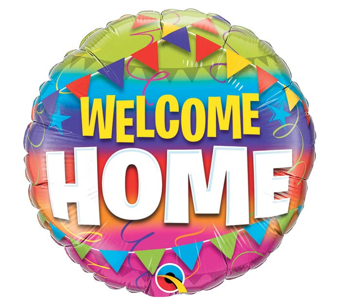 "18""PKG WELCOME HOME PENNANTS"