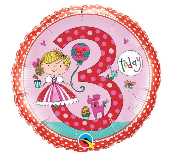 """18""""PKG HBD RACHEL ELLEN AGE 3 PRINCESS"""