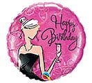 "18""PKG HBD BIRTHDAY BLACK DRESS"