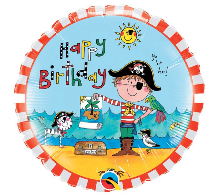"18""PKG HBD RACHEL ELLEN BIRTHDAY PIRATE"