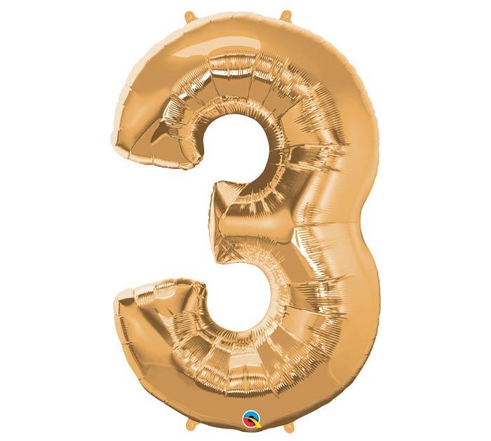 "34""PKG METALLIC GOLD THREE"