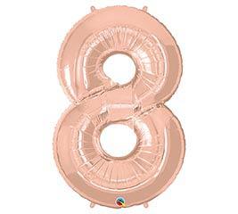 "34""PKG ROSE GOLD EIGHT"