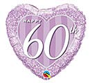 "18""PKG ANN 60TH DAMASK HEART ANNIVERSARY"