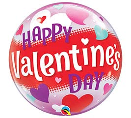 "22""PKG HVD VALENTINE'S DAY BUBBLE"