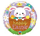 "18"" HAPPY EASTER BUNNY IN BASKET BALLOON"
