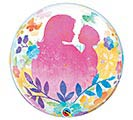 "22""PKG HMD MOTHER'S DAY SILHOUETTE BUBBL 1st Alternate Image"