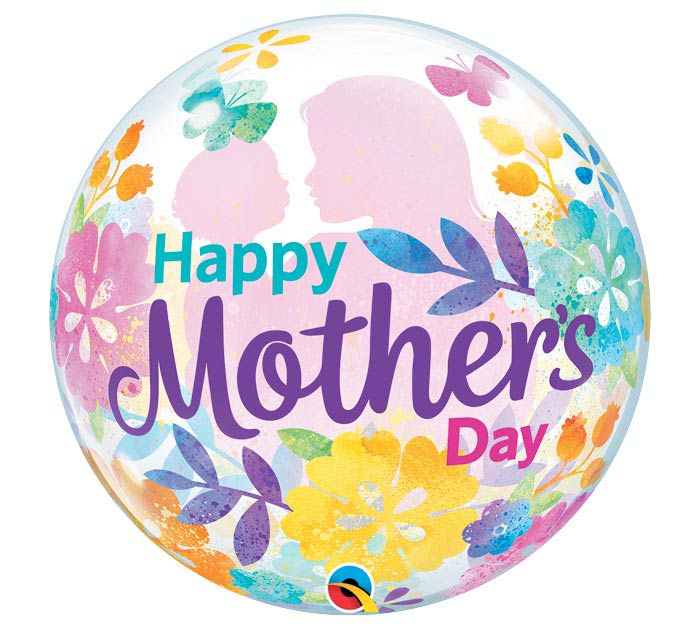 "22""PKG HMD MOTHER'S DAY SILHOUETTE BUBBL"