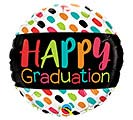 "18""GRA HAPPY GRADUATION COLOR DABS"