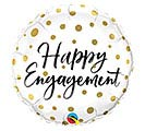 "18"" PKG HAPPY ENGAGEMENT BALLOON"