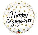 "18"" PKG HAPPY ENGAGEMENT BALLOON"
