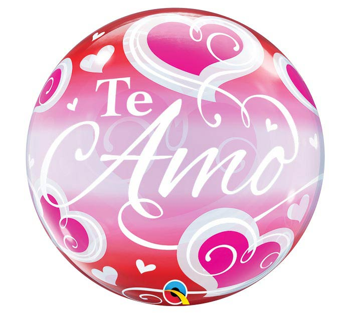"22""PKG SPA TE AMO FILIGREE BUBBLE"
