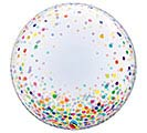 "24""PKG COLORFUL CONFETTI DOTS DECO BUBBL"