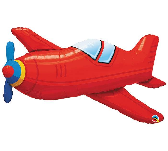 """36""""PKG RED VINTAGE AIRPLANE"""